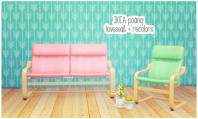 Phenomenal Ikea Poang Loveseat Armchair Recolors At Lina Cherie Short Links Chair Design For Home Short Linksinfo