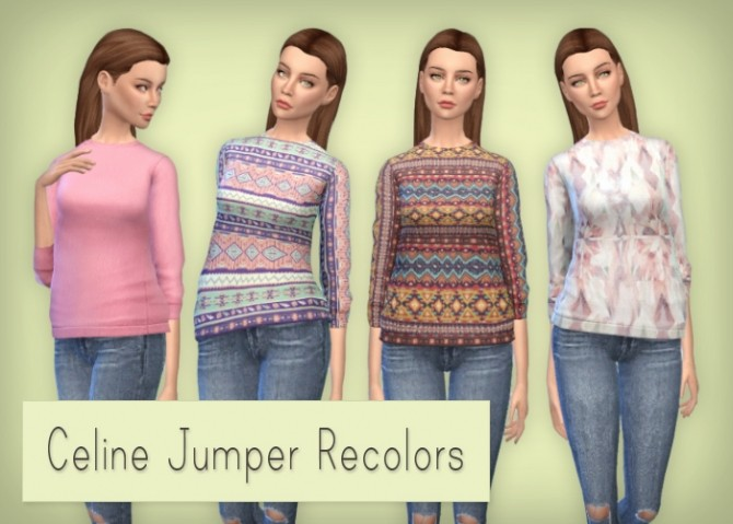 Sims 4 Recolors of the Sentates Celine Jumper at Simsrocuted
