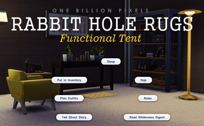 Rabbit Hole Rugs (Functional Tent) at One Billion Pixels image 1632 670x413 Sims 4 Updates