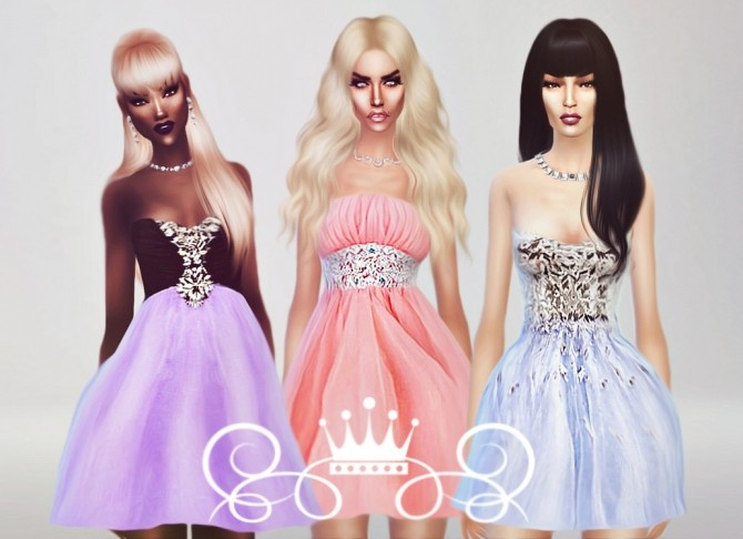 Romantic Collection 3 Dresses At Fashion Royalty Sims