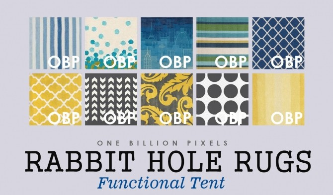 Rabbit Hole Rugs (Functional Tent) at One Billion Pixels image 1653 670x393 Sims 4 Updates