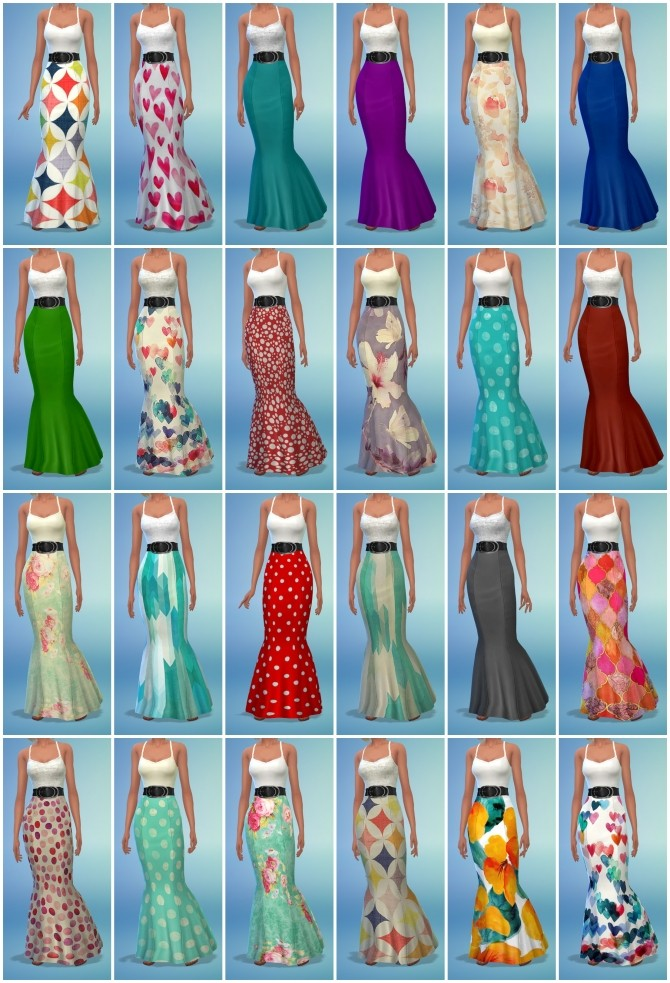 Sims 4 42 Dress Recolors at The Simsperience