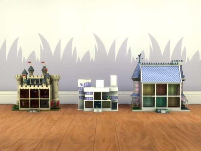 Sims 4 Small Modern Castle Dollhouses by plasticbox at Mod The Sims