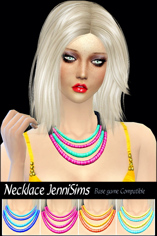 Sims 4 Sets of Glasses and Necklace at Jenni Sims