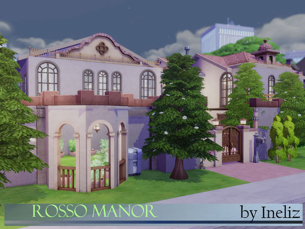 Sims 4 Rosso Manor by Ineliz at TSR