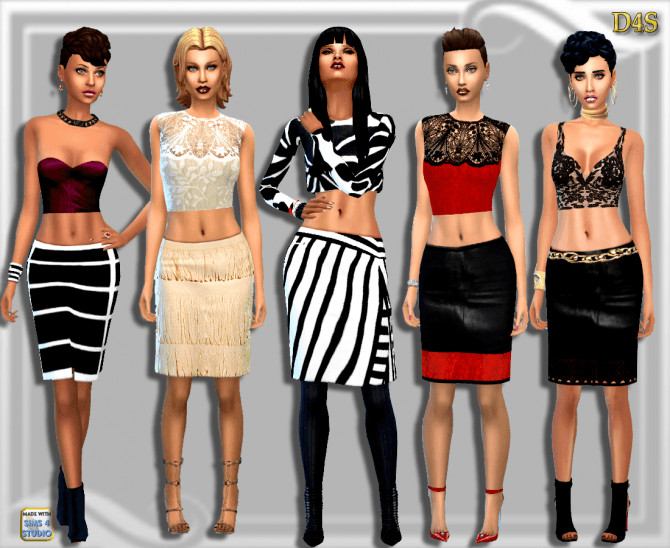 Knee Length Skirt at Dreaming 4 Sims image 17 1 670x548 Sims 4 Updates