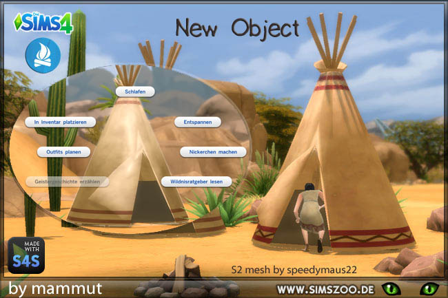 Tipi native americans tent by mammut at Blackyu0027s Sims Zoo & Tipi native americans tent by mammut at Blackyu0027s Sims Zoo » Sims 4 ...