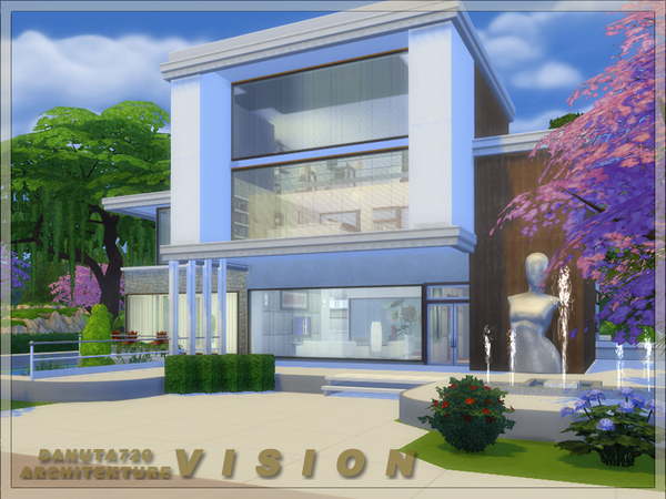 Vision house by Danuta720 at TSR image 1750 Sims 4 Updates