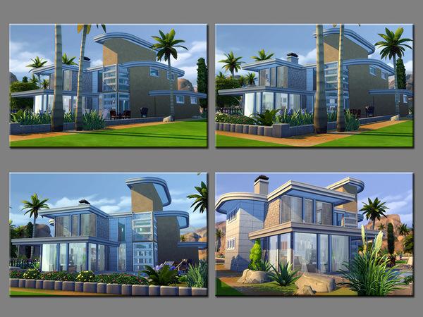 Sims 4 MB TripleSteps modern house by matomibotaki at TSR