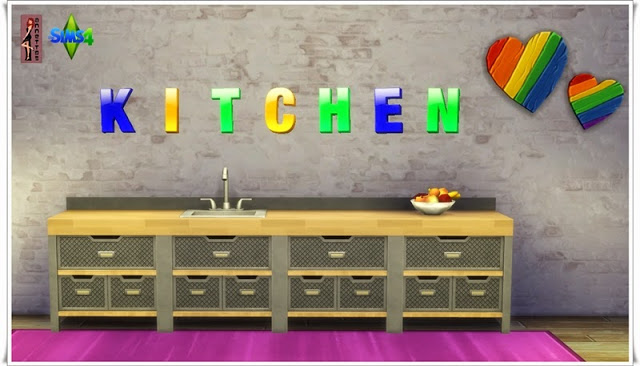 Sims 4 Letters Wall Tattoos at Annett's Sims 4 Welt