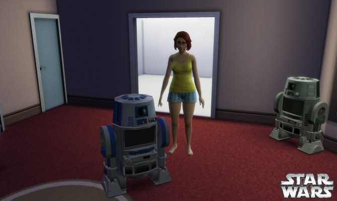 Sims 4 TV system Droid R6S8 by Stanislav at Mod The Sims
