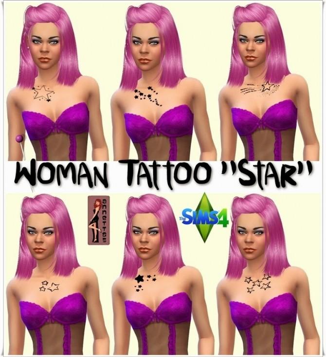 Sims 4 Star tattoos for females at Annett's Sims 4 Welt