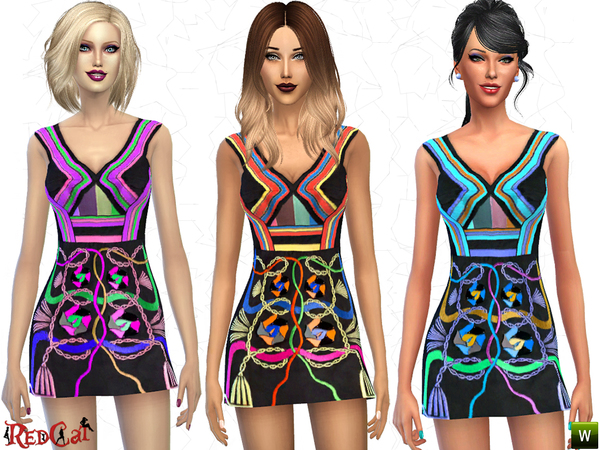 Hendrix Embellished Dress by RedCat at TSR image 1815 Sims 4 Updates