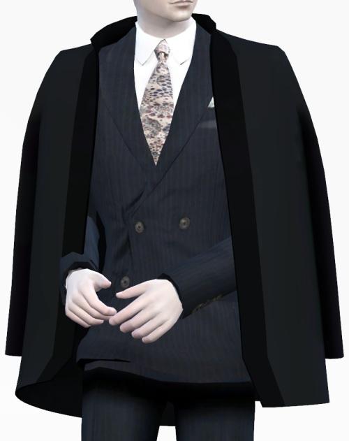 Dandy shoulder coat acc. at Happy Life Sims » Sims 4 Updates