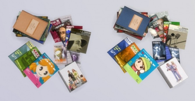 Stacks Of Books And Magazines Conversion At Tukete 187 Sims