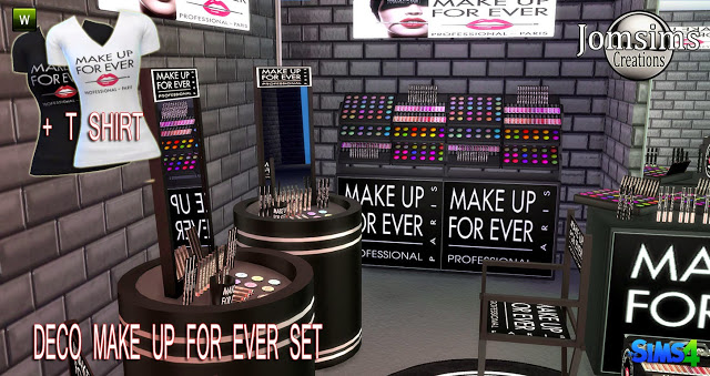 MAKE UP FOR EVER deco + acc + tee at Jomsims Creations image 18411 Sims 4 Updates