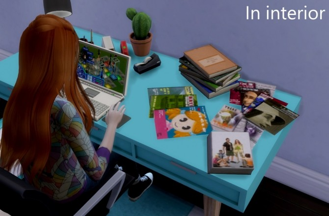 Sims 4 Stacks of books and magazines conversion at Tukete