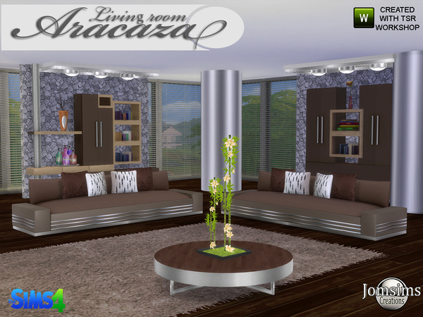Aracaza livingroom by jomsims at TSR image 1869 Sims 4 Updates