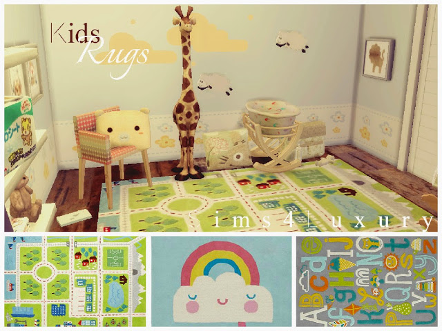Kids rugs set 2 at sims4 luxury sims 4 updates for Kids carpet designs