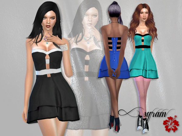 Emmy Cant Wait Dress by EsyraM at TSR image 1911 Sims 4 Updates