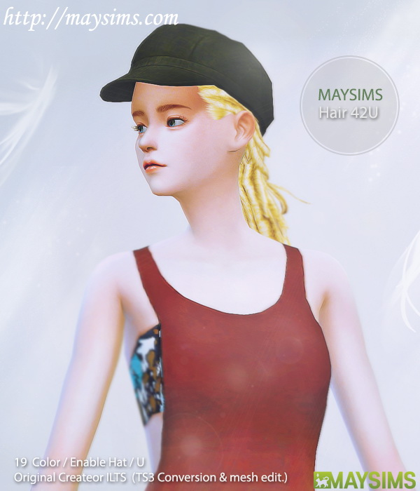 Sims 4 Dread hair 42U (ILTS) at May Sims