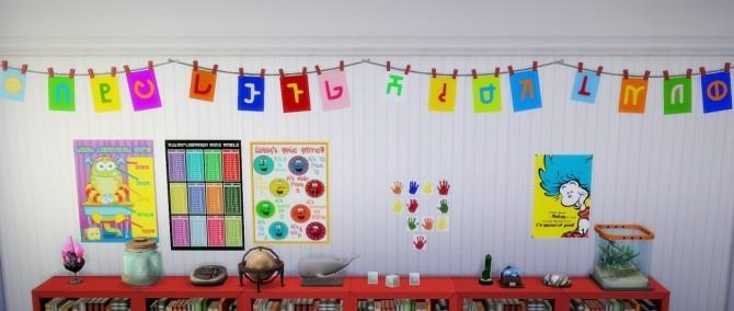 Sims 4 School CC: Simlish Alphabet Flags at Budgie2budgie