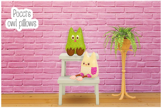 Sims 4 Pocci's owls pillows at Lina Cherie