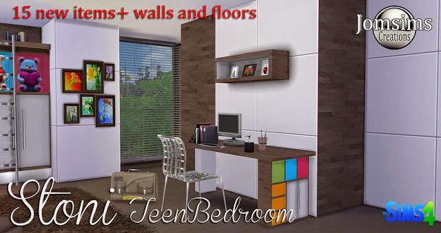 Sims 4 Stoni teenbedroom at Jomsims Creations