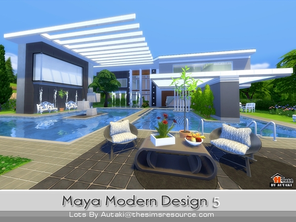 maya modern design 5 house by autaki at tsr image 1950 sims 4 updates - Sims 4 Home Design