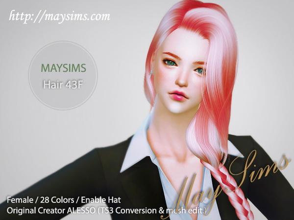 Sims 4 Hair 43F (Alesso) at May Sims