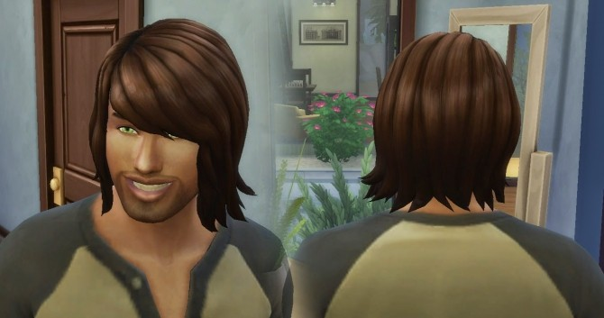 Bob Shaggy Hair For Males At My Stuff 187 Sims 4 Updates
