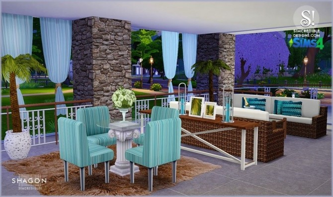 Shagon diningroom at simcredible designs 4 sims 4 updates for Sims 4 dining room ideas