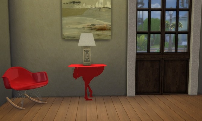 Sims 4 Ostrich Console at Meinkatz Creations