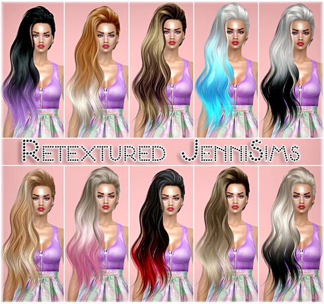 Sims 4 Sets of SkySims Hairs retextures at Jenni Sims