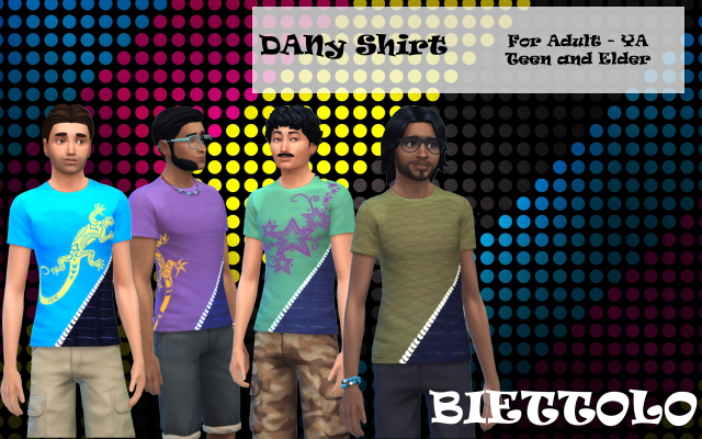 Sims 4 Dany Shirt by Biettolo at The Sims Lover