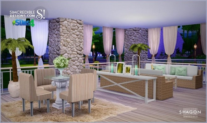 Shagon diningroom at simcredible designs 4 sims 4 updates for Dining room ideas sims 4