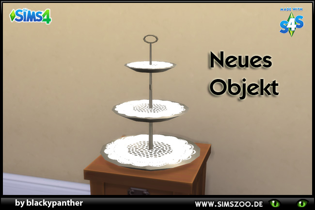 Sims 4 Empty cake stand by blackypanther at Blacky's Sims Zoo
