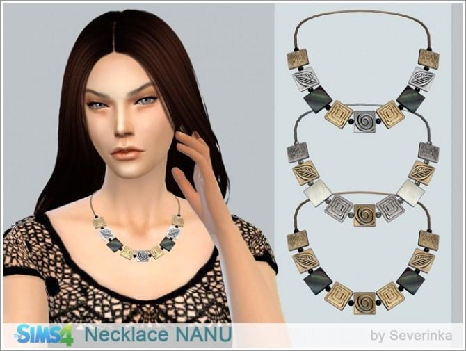 Sims 4 NANU Necklace at Sims by Severinka