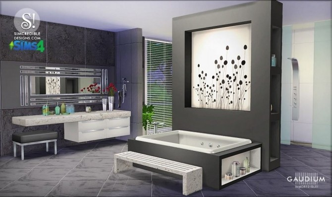 Gaudium Bathroom At Simcredible Designs 4 187 Sims 4 Updates