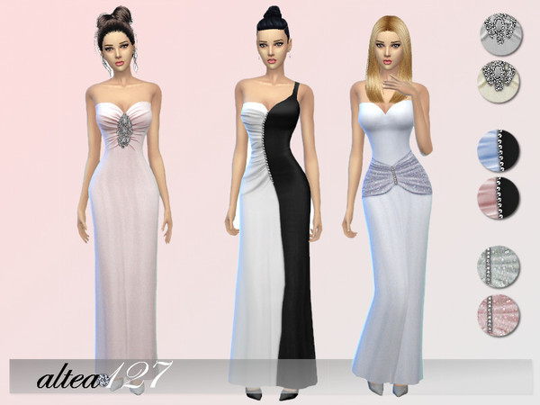 Rose dress by altea127 at TSR image 2015 Sims 4 Updates
