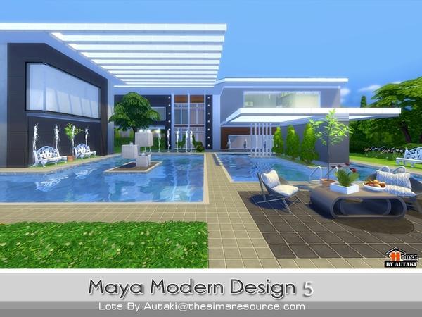 Sims 4 Maya Modern Design 5 house by autaki at TSR