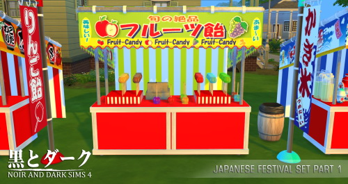Japanese Festival Set Part 1 at Noir And Dark Sims image 2067 Sims 4 Updates