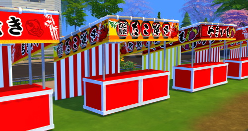 Japanese Festival Set Part 1 at Noir And Dark Sims image 2088 Sims 4 Updates