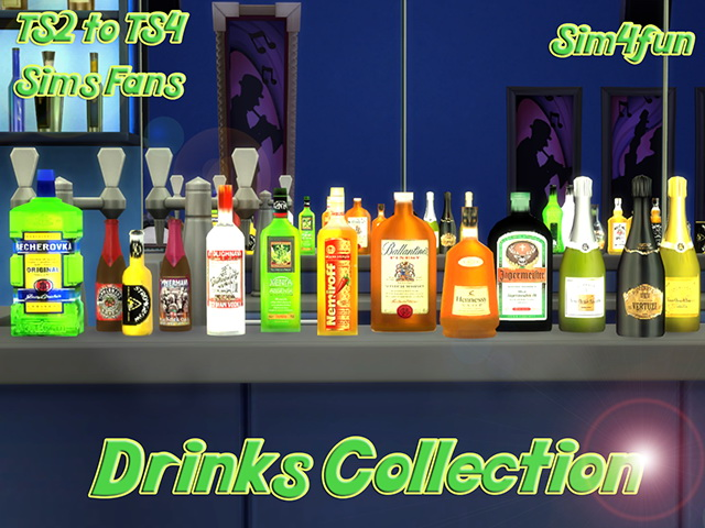 Ts2 To Ts4 Drinks Collection By Sim4fun At Sims Fans 187 Sims 4 Updates