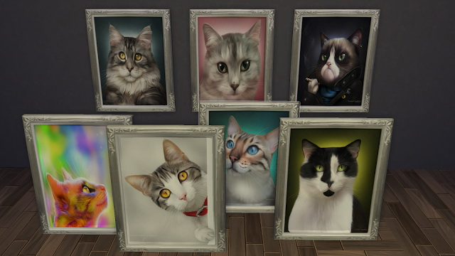 Sims 4 Cats Paintings at NG Sims3