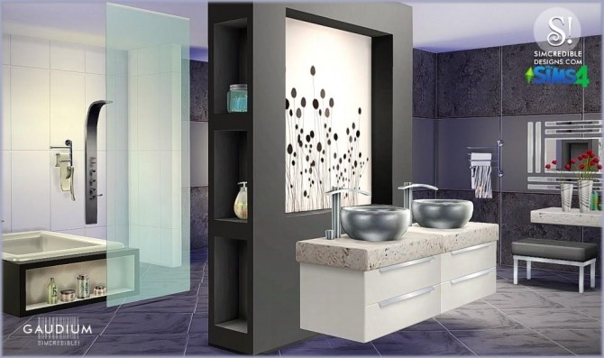 Sims 4 Gaudium bathroom at SIMcredible! Designs 4