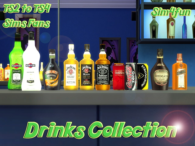 TS2 to TS4 Drinks Collection by Sim4fun at Sims Fans » Sims