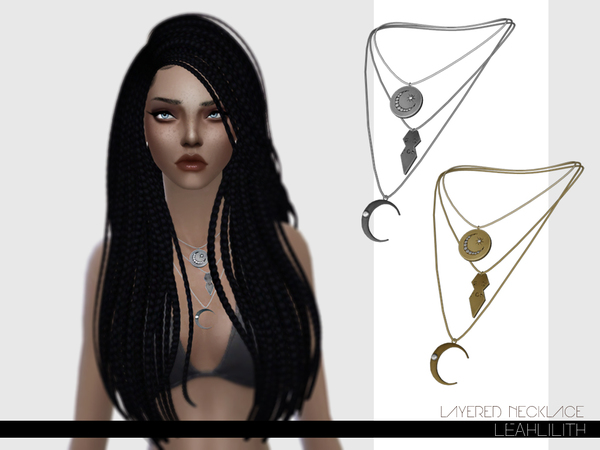 Layered Necklace by Leah Lillith at TSR image 21 Sims 4 Updates