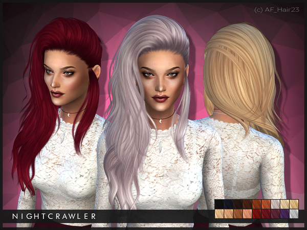 AF Hair 23 by Nightcrawler at TSR image 2107 Sims 4 Updates