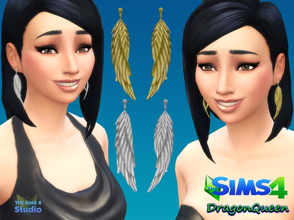 Wings Earring Set by DragonQueen at TSR image 21100 Sims 4 Updates